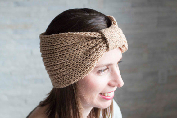 Knitted headband and cowl pattern in one.