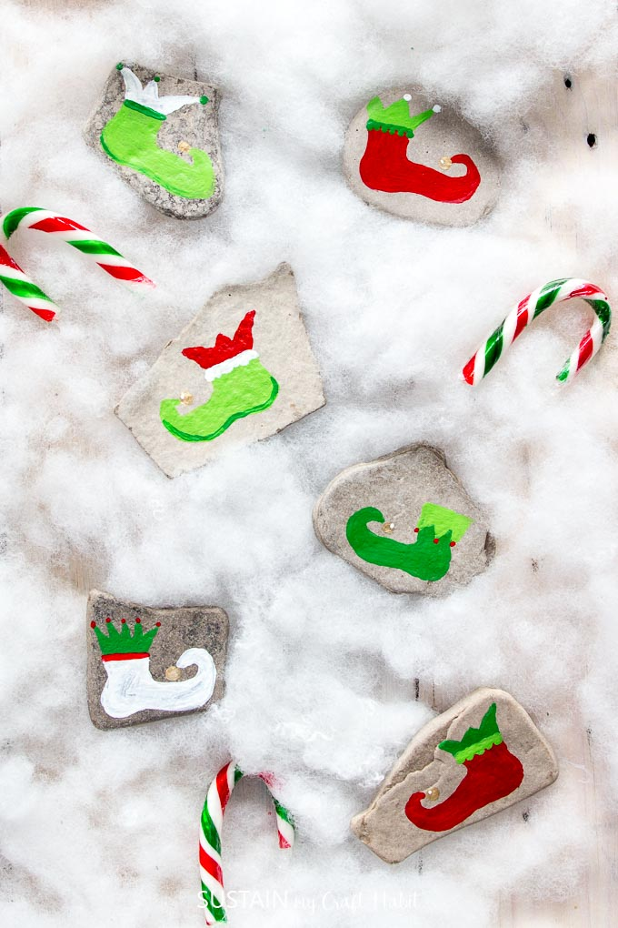 Christmas Rock Painting Images.Festive Christmas Rock Painting Ideas Sustain My Craft Habit