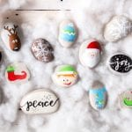 Christmas Rock Painting Ideas:  Elf Shoes Tutorial