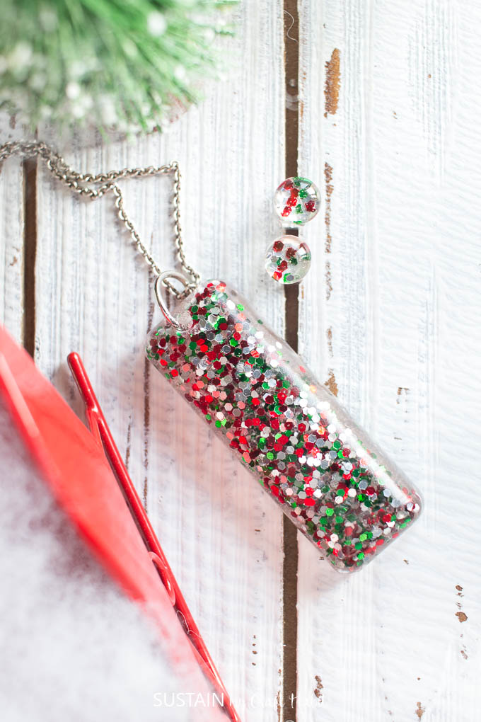 Jewelry Making Ideas Resin Christmas Earrings Sustain My Craft Habit
