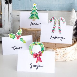 Free Printable Christmas Place Cards