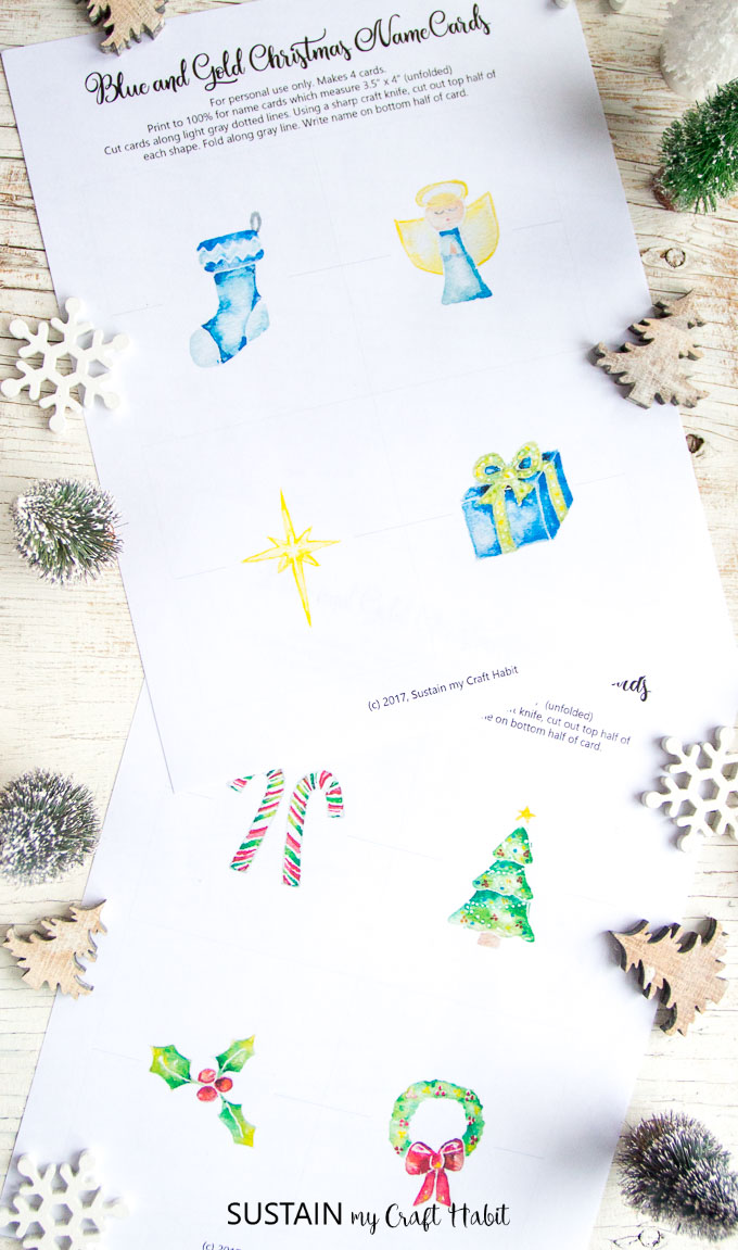This is a picture of Printable Christmas Place Cards with regard to place setting