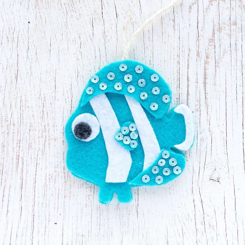 Coastal Felt Ornament Patterns on Seashell Animal Craft Idea For Kids