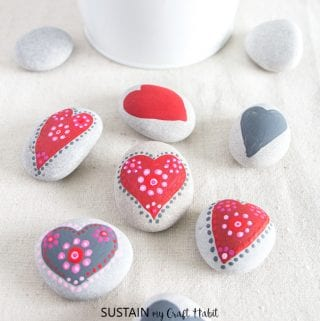 Painting Rocks with Love: Painted Mandala Hearts