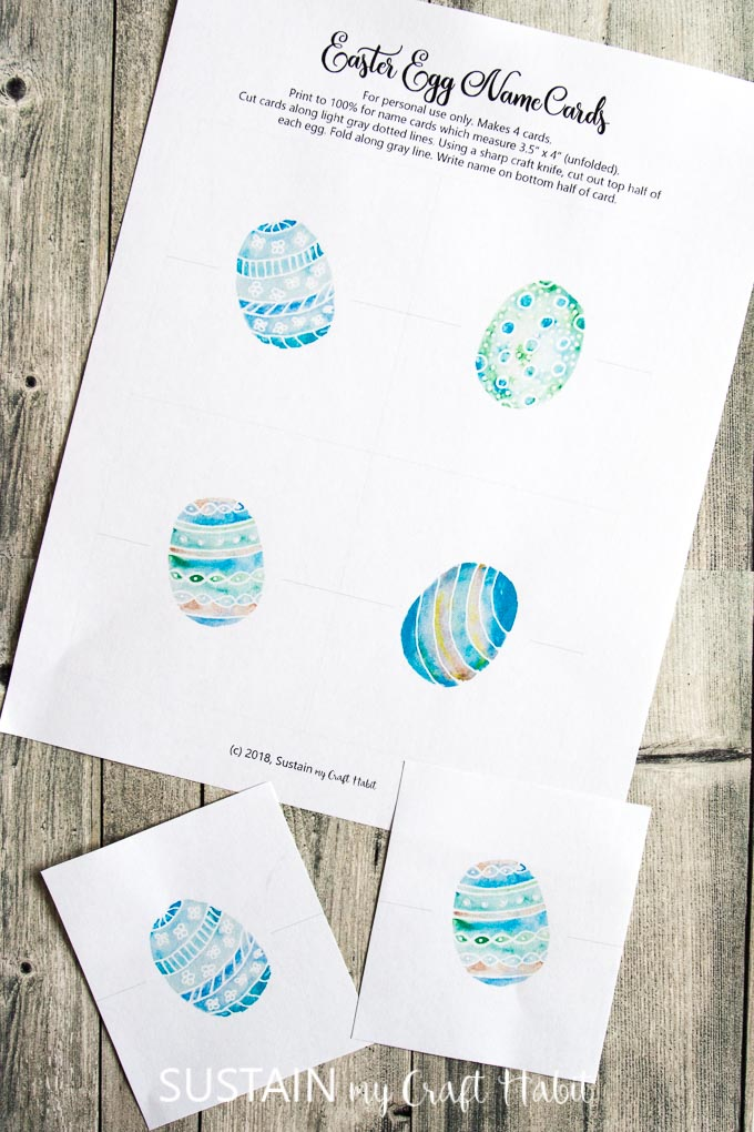 image relating to Free Printable Name Cards called Egg-cellent Easter Space Playing cards Printable Maintain My Craft