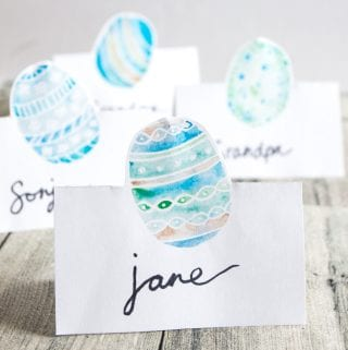 Free printable Easter name cards