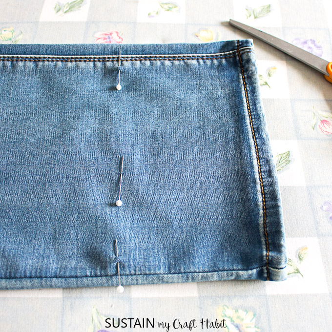 hemming jeans with original hem