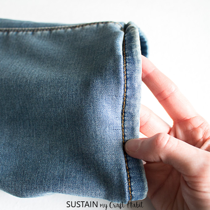 keeping the original hem on jeans