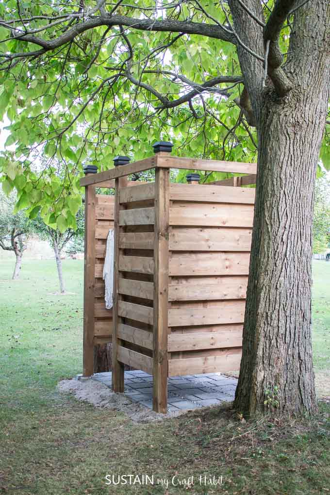Diy outdoor shower enclosure plans with video sustain - How to make an outdoor shower ...