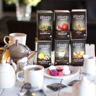 DIY Hot Tea Bar with steep by Bigelow Organic Teas