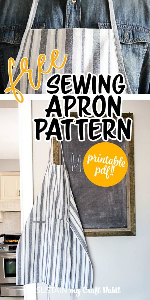 free beginner apron sewing pattern