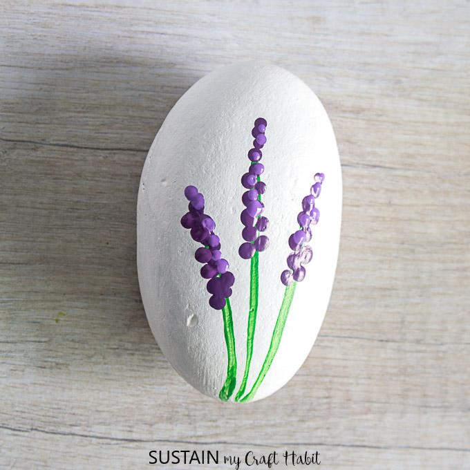 hyacinth painted rocks