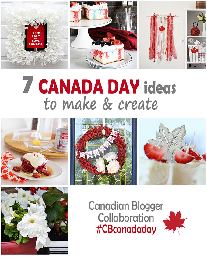 Collage of ideas to make and create for Canada Day