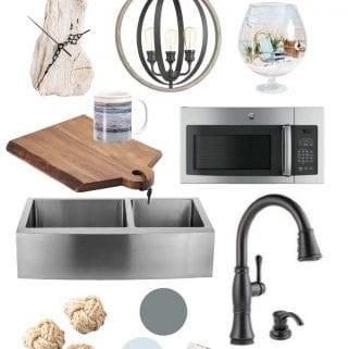Coastal Cottage Kitchen Design Ideas: Graystone Beach Kitchen Mood Board