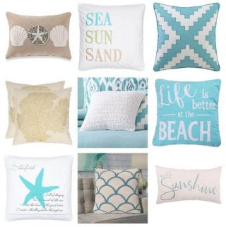 Our Favourite Coastal Throw Pillows for the Summer