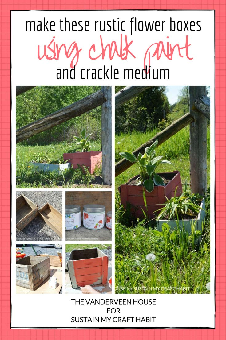 How to crackle paint and make rustic flower boxes using Country Chic chalk paint and crackle medium