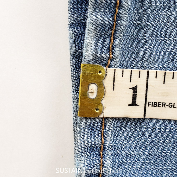 Measuring original hem height