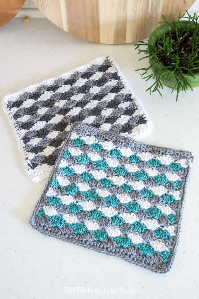 Simple Shells Easy Free Crochet Dishcloth Pattern Sustain My Craft