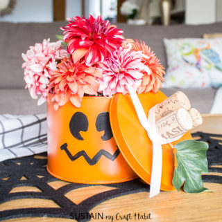 Halloween Decorating Ideas: Upcycled Tin Pumpkin Decor and More!
