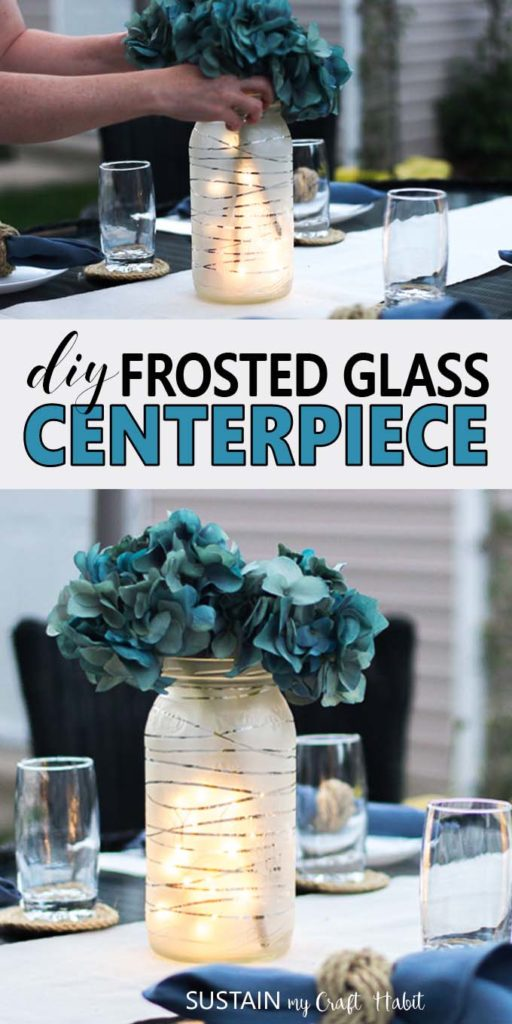 Upcycled mason jar DIY wedding centerpieces