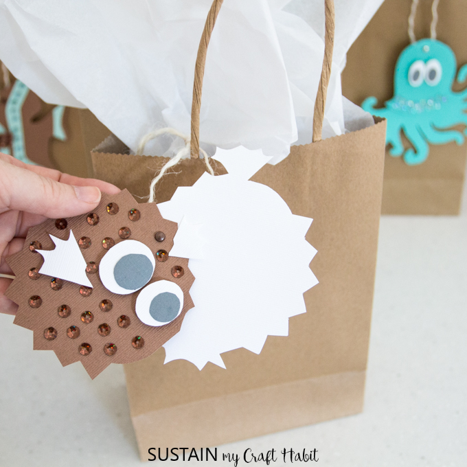 Blow fish printable gift tags