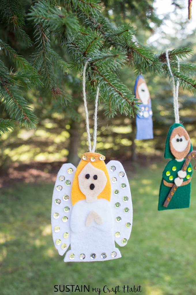 Felt Nativity Crafts: Adorable Christmas Ornaments ...