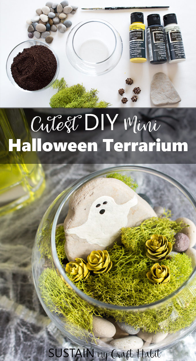 diy mini halloween terrarium