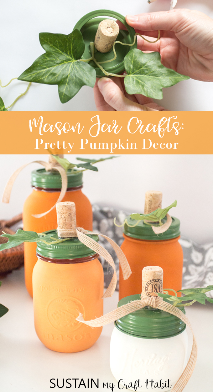 mason jar crafts for the fall
