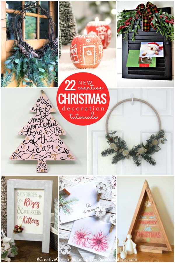 Collage of 22 inspiring Christmas craft tutorials including DIY decorative clothespins
