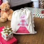 reusable Christmas gift bag with Cricut EasyPress 2
