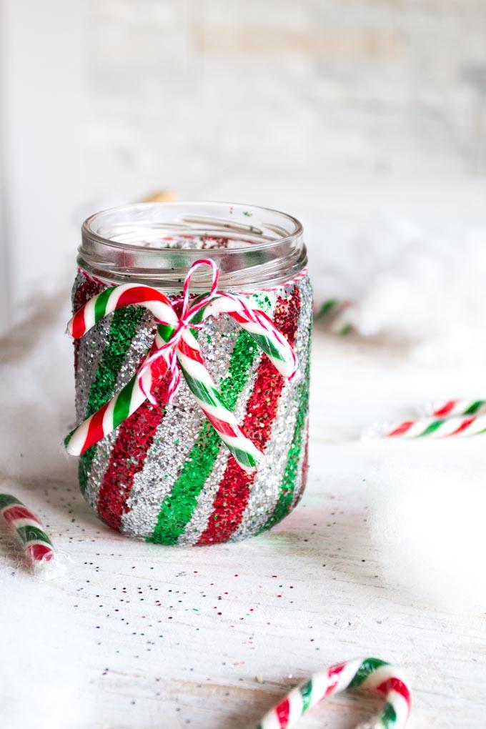 glittering jar candy cane christmas decorations sustain my craft habit
