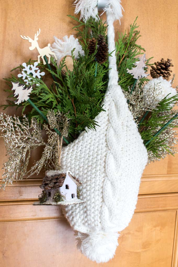 These non-traditional winter wreath ideas for the front door are a fun place to start!