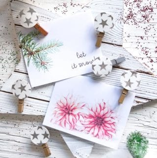 Display your holiday photos and Christmas greeting cards with these pretty and easy decorative clothespins.