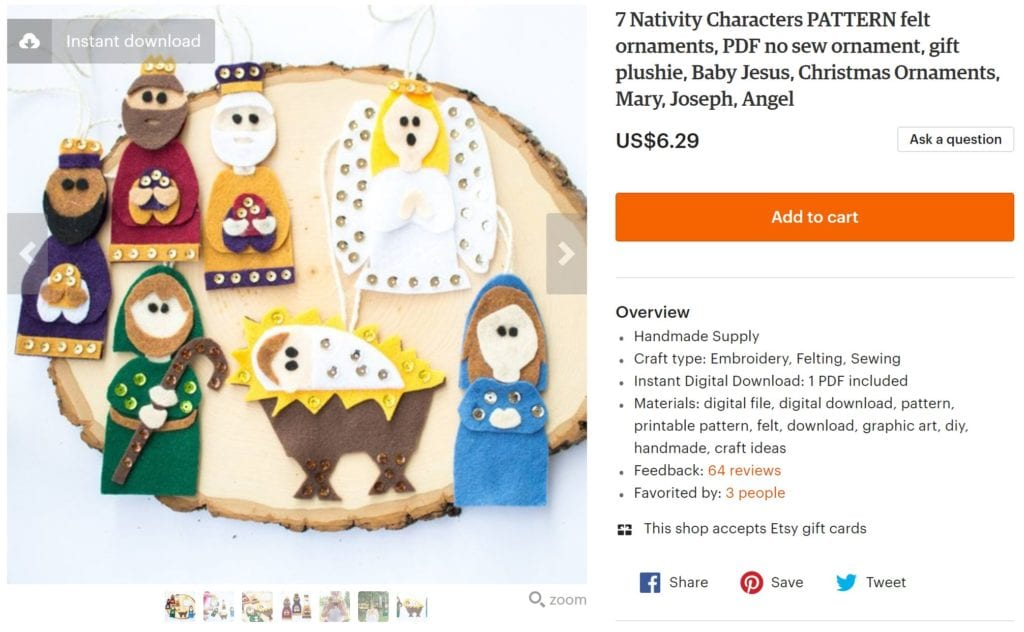 Felt Nativity Crafts: Adorable Christmas Ornaments – Sustain My ...