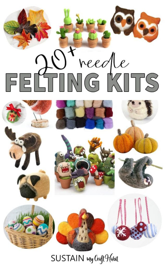 Hamster and Dog Needle Felting Starter Kits Felting Wool Needles Crafts DIY
