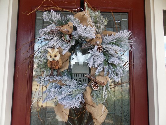 Non Christmas Winter Wreaths.Creative Non Traditional Winter Wreath Ideas Sustain My