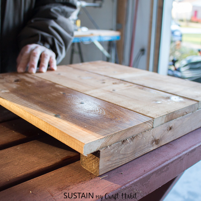 wooden DIY planter box plans
