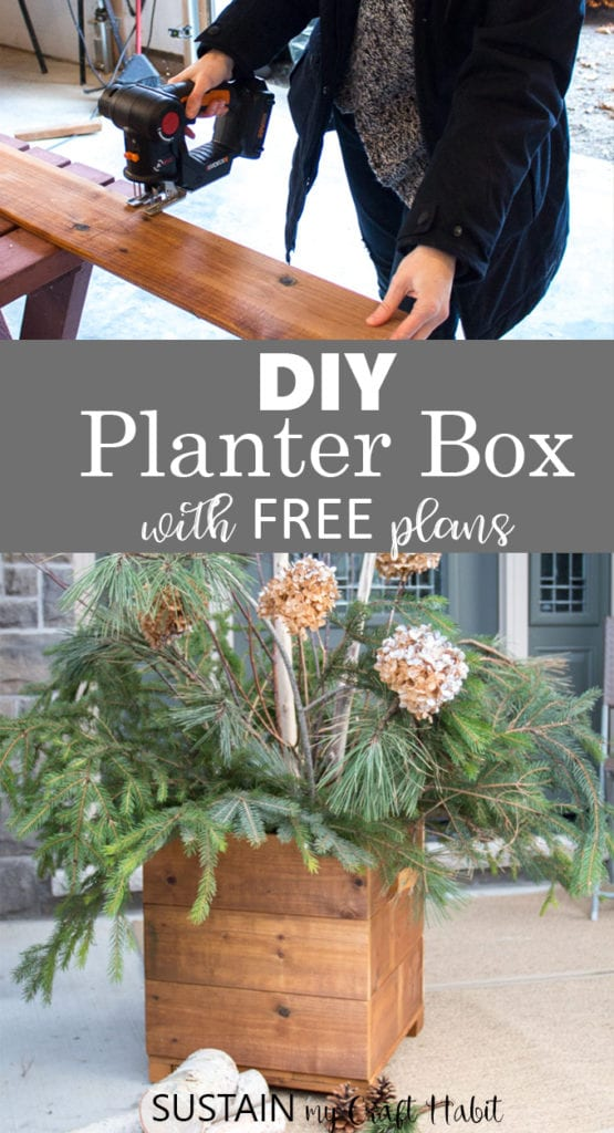 DIY planter box plans