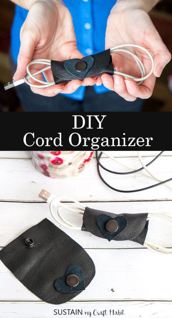DIY cord organizer
