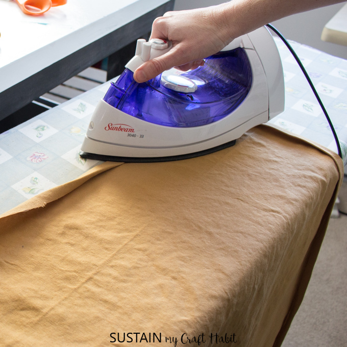 Ironing cotton canvas for how to make a simple apron pattern