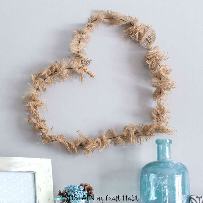 wire heart wreath