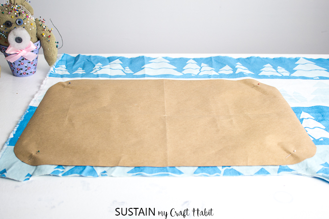 Template used for sewing handmade placemats