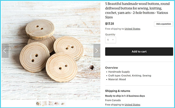 Driftwood buttons with two holes available on Etsy by Sustain My Craft Habit