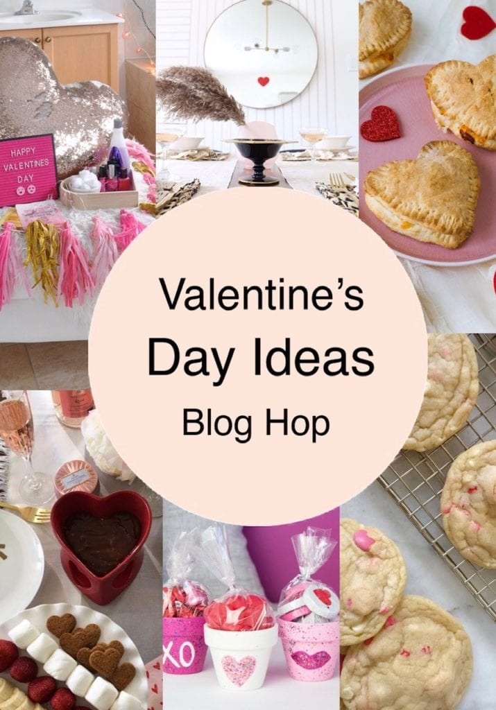 Collage of six Valentine's Day crafts and recipes