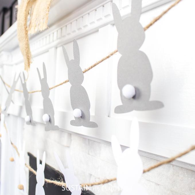DIY Easter garland