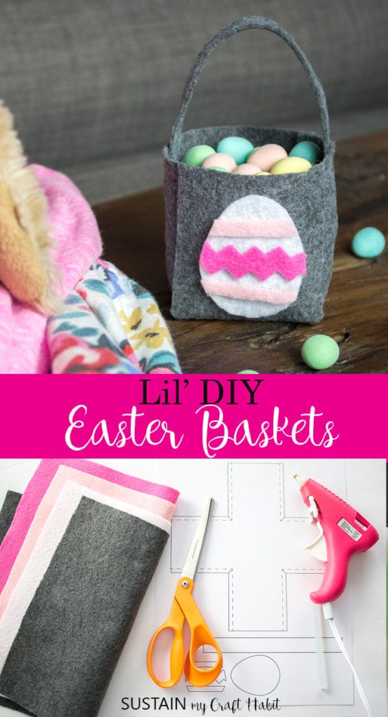 DIY Easter basket with felt