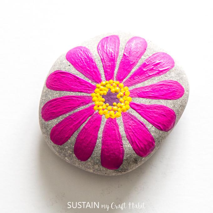 Flower Painted Rock