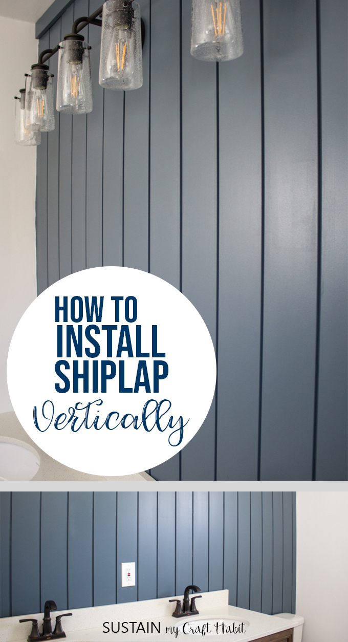 installing shiplap vertically