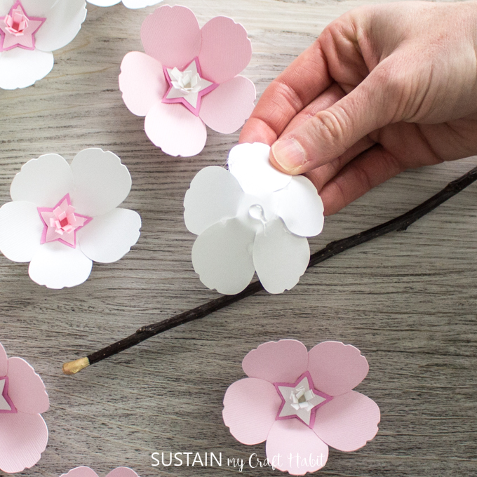 Sweet Cherry Blossom Paper Flowers With Cricut Sustain My Craft Habit