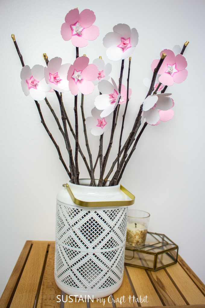 cherry blossom paper flowers